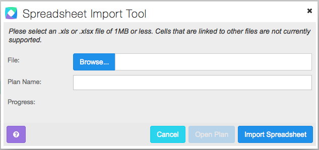 ClearFactr Import Panel